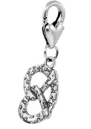 Philadelphia Soft Pretzel Baseball Food Lobster Clip Dangle Charm for Bracelets Vintage Crafting Pendant Jewelry Making Supplies - DIY for Necklace Bracelet Accessories by CharmingSS