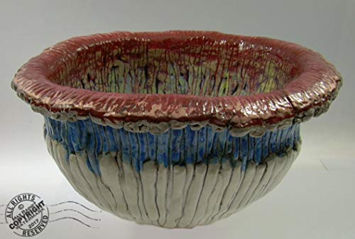 The Vagina Bowl. Stunning Large ABSTRACT ART Pottery Center Piece, by Cathy Peterson. SIGNED