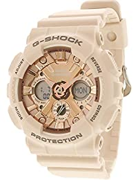 Womens G Shock Quartz Stainless Steel and Resin Casual Watch, Color:Pink