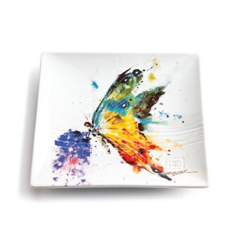 Demdaco 3005050313 Big Sky Carvers Kaleidoscope Butterfly Snack Plate, Multicolored
