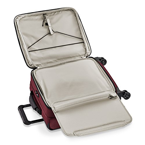 Briggs & Riley Transcend Wide Carry-on Expandable Spinner, Merlot by Briggs & Riley (Image #4)