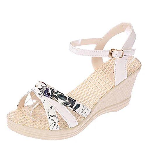 Kvinner Flip Loafers Skråningen Mote Sko Kiler Klipp Flops Stropp Med Sommer Minetom Sandaler Spenne Hvit q5H8IT