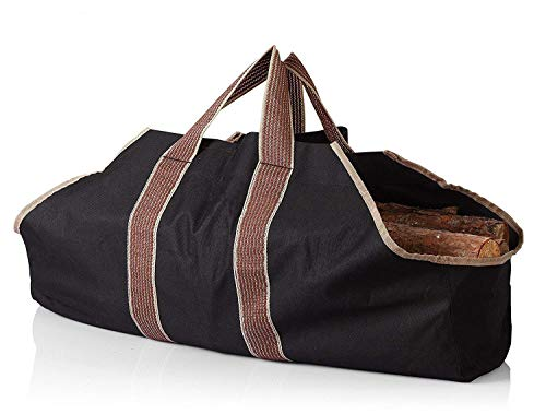 Bettli Heavy Duty Canvas Firewood Carrier & Log Tote, Log Holder, Best Carrying Wood by Bettli