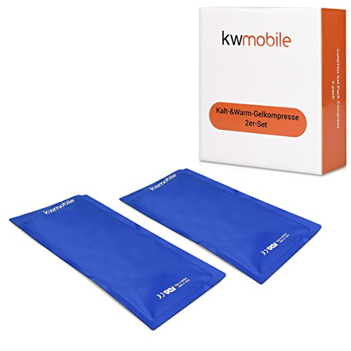 kwmobile Cold Compress Gel Packs - 2X Reusable Gel Ice Packs for Hot/Cold Therapy (11'' x 5.1'') - Fast Pain Relief for Sports Injuries, Swelling by kwmobile (Image #4)