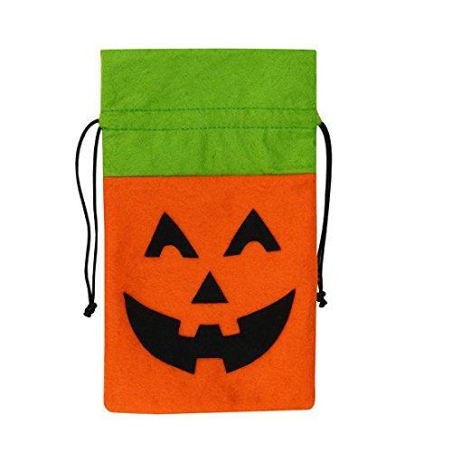 Halloween Candy Handbag,Halloween Gift Bag Basket Devil Bag Kids Candy Handbag Bucket Children By Dacawin (C)