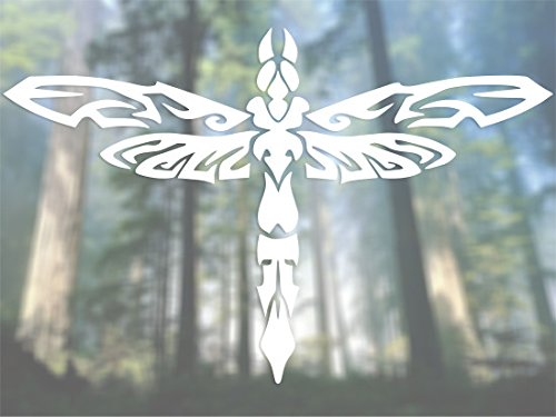 Dragonfly Tribal - Vinyl Decal - Car Phone Helmet - SELECT ()