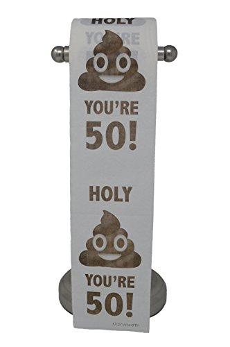 Happy 50th Birthday Toilet Paper Prank Funny Gag Gift!