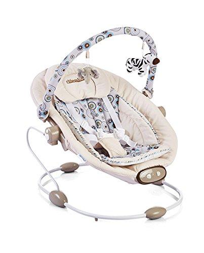 Chipolino CHIPLSHP01401BE Elektrische Babyschaukel und -Wippe Paradise, beige/braun