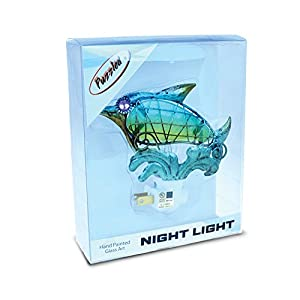 """Puzzled Nursery Night Lights Dolphin & Seahorse Plug in Light, 2"""" Durable Energy Efficient Decorative Portable Socket Lamp Manual On & Off Stairway, Bedroom, Bathroom, Pantry Home & Kitchen Accessory"""