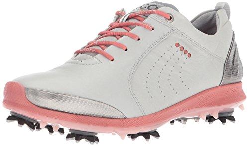 - ECCO Women's BOIM G 2 Free Golf Shoe, Concrete/Silver Pink, 9 M US