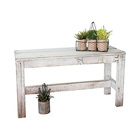 Astonishing Barnwood Bench By Del Hutson Designs Distressed White Theyellowbook Wood Chair Design Ideas Theyellowbookinfo