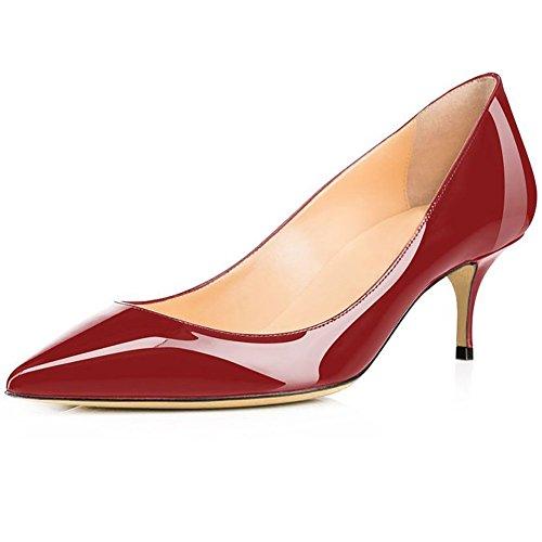 Escarpins Rouge 5cm Glisser 6 Aiguille Sinoed Sur Chaussures Femme Arraysa wU7CTT