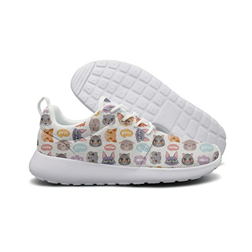 Lightweight 1 Shoes Face Cute Mesh Sports Heads Flex Womens Cats Hipster Stylish Sneakers Cat Cute Running Roshe Hoohle xCvB6q6