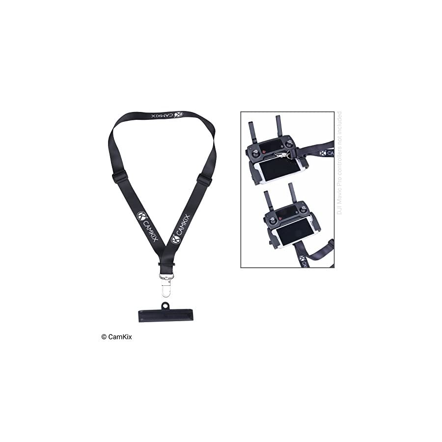 CamKix Lanyard and Remote Control Bracket for DJI Mavic Pro/Platinum – Offers Extra Security and Comfort – Use Upwards or Downwards – Neck Strap and Remote Controller Connector