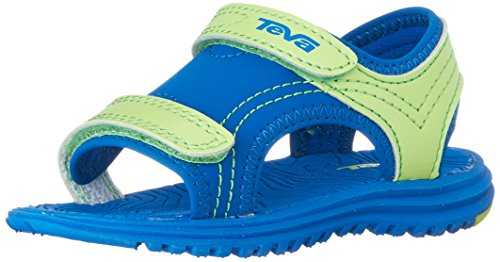 Teva Psyclone 6 Sandal (Toddler/Little Kid), Blue/Lime, 7 M US Toddler