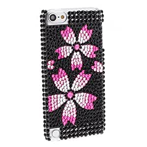 Conseguir Rhinestones Style Flower Pattern duro caso para el iTouch 5