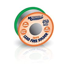 """MG Chemicals SAC305, 99.3% Tin and 0.7% Copper, No Clean Lead Free Solder, 0.032"""" Diameter, 1/4 lbs Spool"""