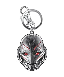 Marvel Avengers 2 Ultron Head Colored Pewter Key Ring Action Figure