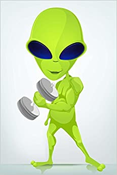 Book Alien Working Out Journal: 150 page lined notebook/diary