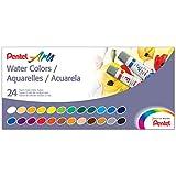 Tinta Aquarela Pentel Arts Bisnaga 24 Cores