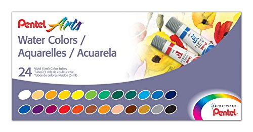 Pentel Water Colors Assorted WFRS 24
