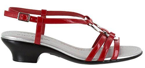Sandale De Robe De Selena De Rue Facile De Femmes, Brevet Rouge, Taille 10.0