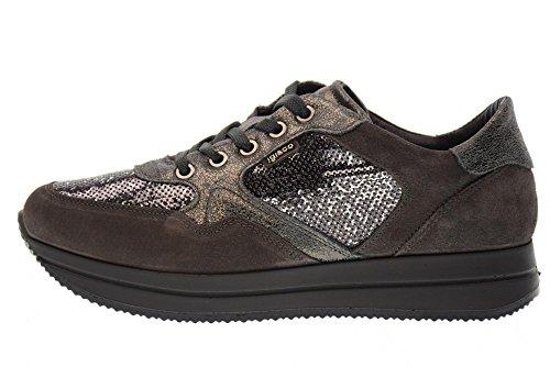 IGI&CO 87595/00 espadrilles de femmes chaussures Gris foncé pQvQGw