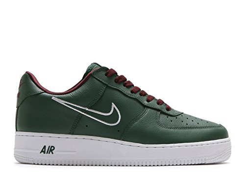 NIKE Men Air Force 1 Low Retro - Hong Kong Green Deep Forest White-EL Dorado Size 11.0 US - Nike Air Force 1 Retro