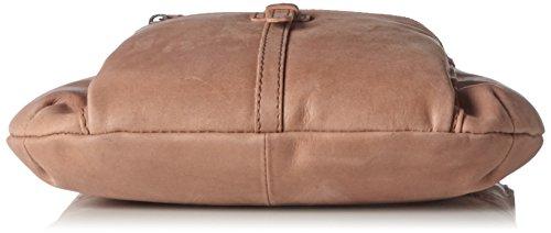 Spikes & Sparrow Damen Crossover Bag Umhängetasche, 8x28x23 cm Braun (Cognac)