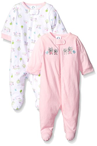 Gerber Baby 2 Pack Zip Front Sleep 'N Play, Garden, New Born