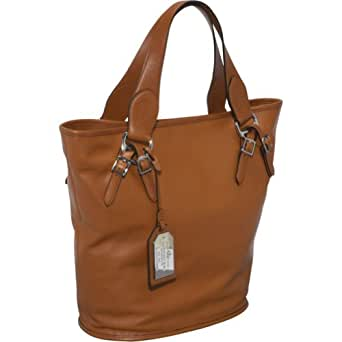 LAUREN by Ralph Lauren Hancock Leather Tote (Lauren Tan/Lauren Tan)