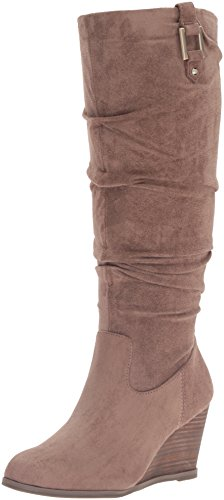 Dr. Scholl's Shoes Women's Poe Slouch Boot, Stucco Microsuede, 8.5 M US