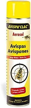 Biosix Avispas'Clac Aerosol - Insecticida contra Avispas asiáticas, velutinas y avispones de Largo Alcance 750ml