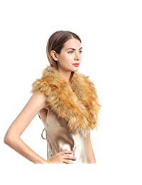 Faux Fur Collar for Women,Ladies Winter Scarf Neck Warmer Wrap