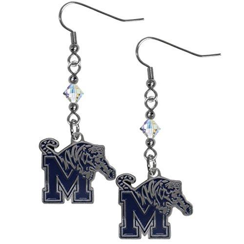 Memphis Fan Tigers Gear - NCAA Memphis Tigers Crystal Dangle Earrings