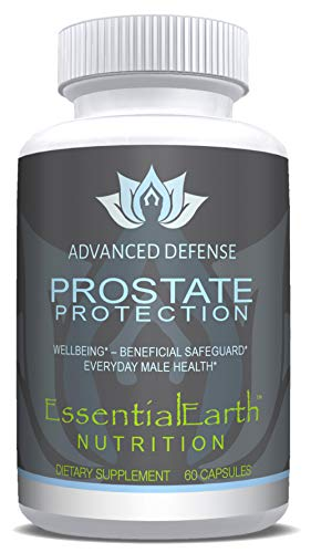 EssentialEarth Nutrition Advanced Prostate Defence Saw Palmetto + 30 Natural Herbs, Vitamins + Minerals, Lycopene & Pumpkin Seed Extract - Zinc Supports Prostate Health and Urinary Function