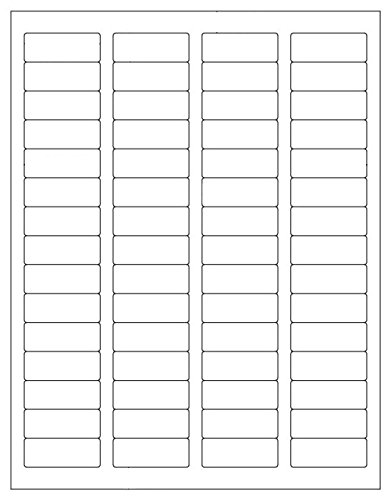 """LabelOutfitters Return Address Labels, Matte White Stickers 1.75"""" x 0.67"""" - 20 Sheets - 1,200 Labels"""