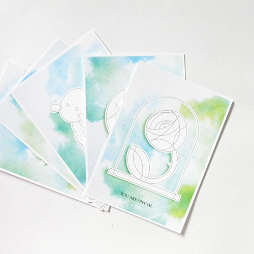 Set of five DIY postcards with discounted - Gift Australia Cards Discounted