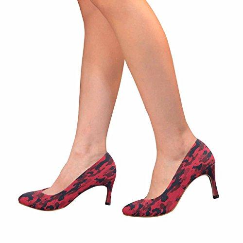 Modello Di Abbigliamento Urbano Rosso Urbano Di Interesse Classico Womens Della Pompa Del Vestito Dal Tacco Alto Di Interesse