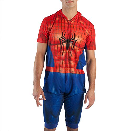 Marvel Spider-Man Cropped Union Suit Onesie-Medium]()