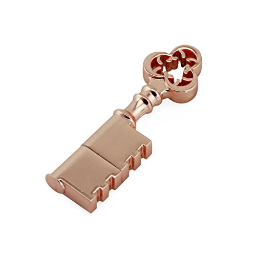 CHUYI 20PCS Waterproof Metal Rose Gold Key Shape 8GB USB 2.0 Flash Drive Pen Drive Memory Stick USB Stick USB Drive Thumb Drive Gift by CHUYI (Image #1)