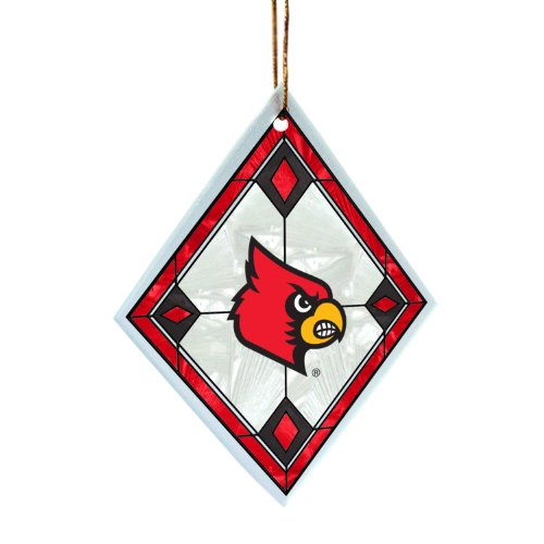 NCAA Louisville Cardinals Art Glass Ornament - Louisville Cardinals Art Glass