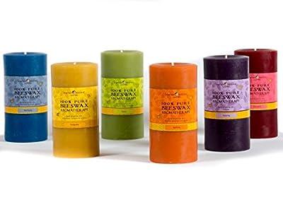 Bluecorn Beeswax 100% Pure Beeswax Aromatherapy Pillar Candle