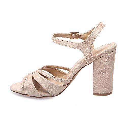 La Modeuse - Sandalias de vestir para mujer, plateado (plata), 36