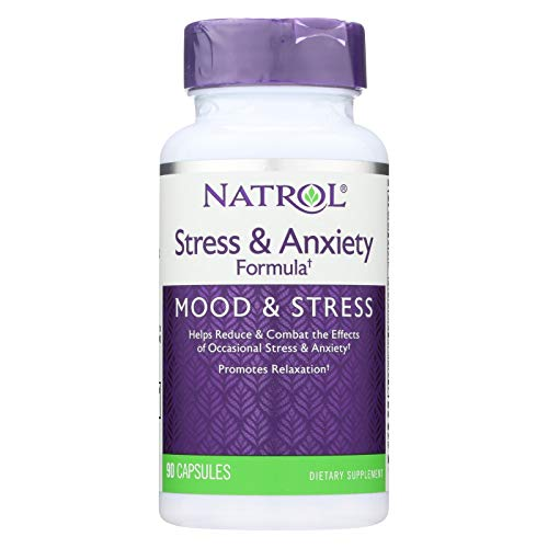 Natrol SAF Stress and Anxiety Formula 90 Capsules (Stress Formula Caps 90)