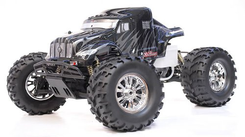 1/8 th Scale 2.4Ghz Exceed RC Monster Truck MadBeast Nitro Gas RTR Version (Black/Silver)