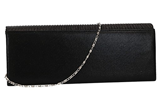 LUCA with strass VN2013 black pochette for Purse woman ceremonies BORSE 7Bqx156