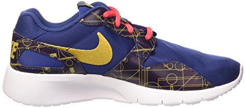 Nike Kaishi Print (GS) Zapatillas de running, Niños Azul / Dorado (Insgn Bl / Mtllc Gld-Embr Glw-Wh)