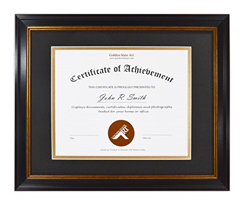 Top 10 diploma frame black gold