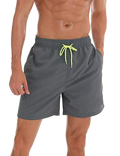 - Barnkas Mens Swim Trunks Quick Dry Beach Shorts with Mesh Liner (US M(Fits Waist 31.5